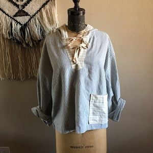 Madewell x The New Denim Project Popover Hoodie